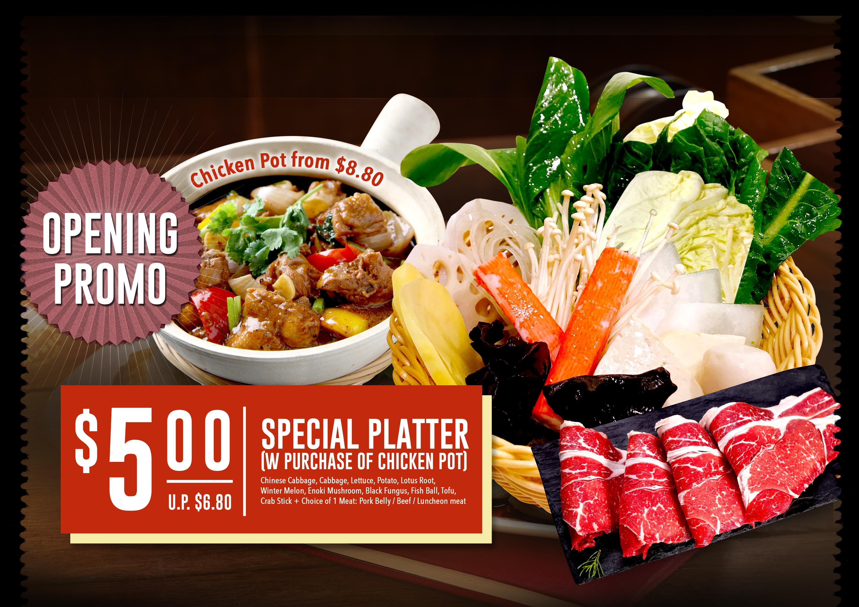 Divine Chicken Pot Special Platter