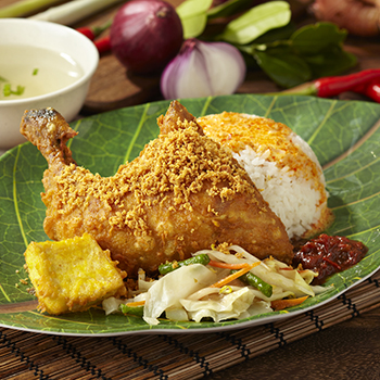 P&BBQ_Ayam Penyet Set (Smashed Fried Chicken Set)
