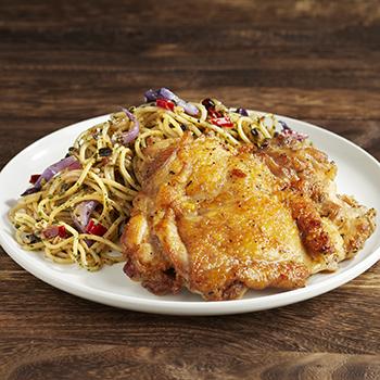 Rustic_Chicken Chop Aglio Olio Spaghetti