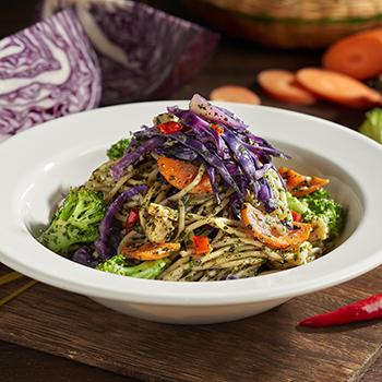 Rustic_Vegetables Aglio Olio Spaghetti